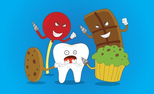 مواد خوراکی مضر برای دندان ها